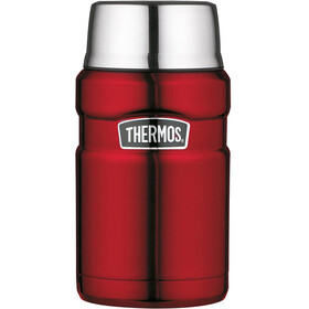 Thermos King Drinkfles 710ml rood/zilver
